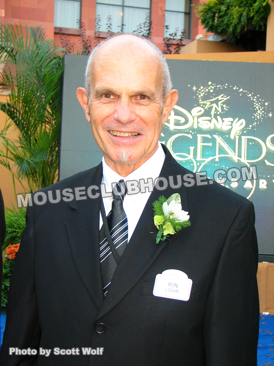 Ron Logan at the Disney Legends ceremony