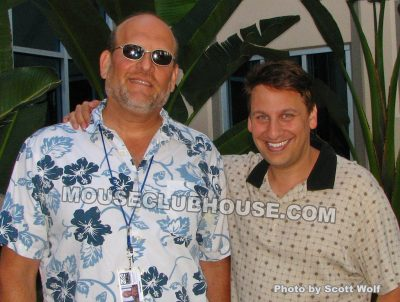(left) Ed Ghertner, producer of TaleSpin and (right) Scott Wolf, assistant producer of TaleSpin