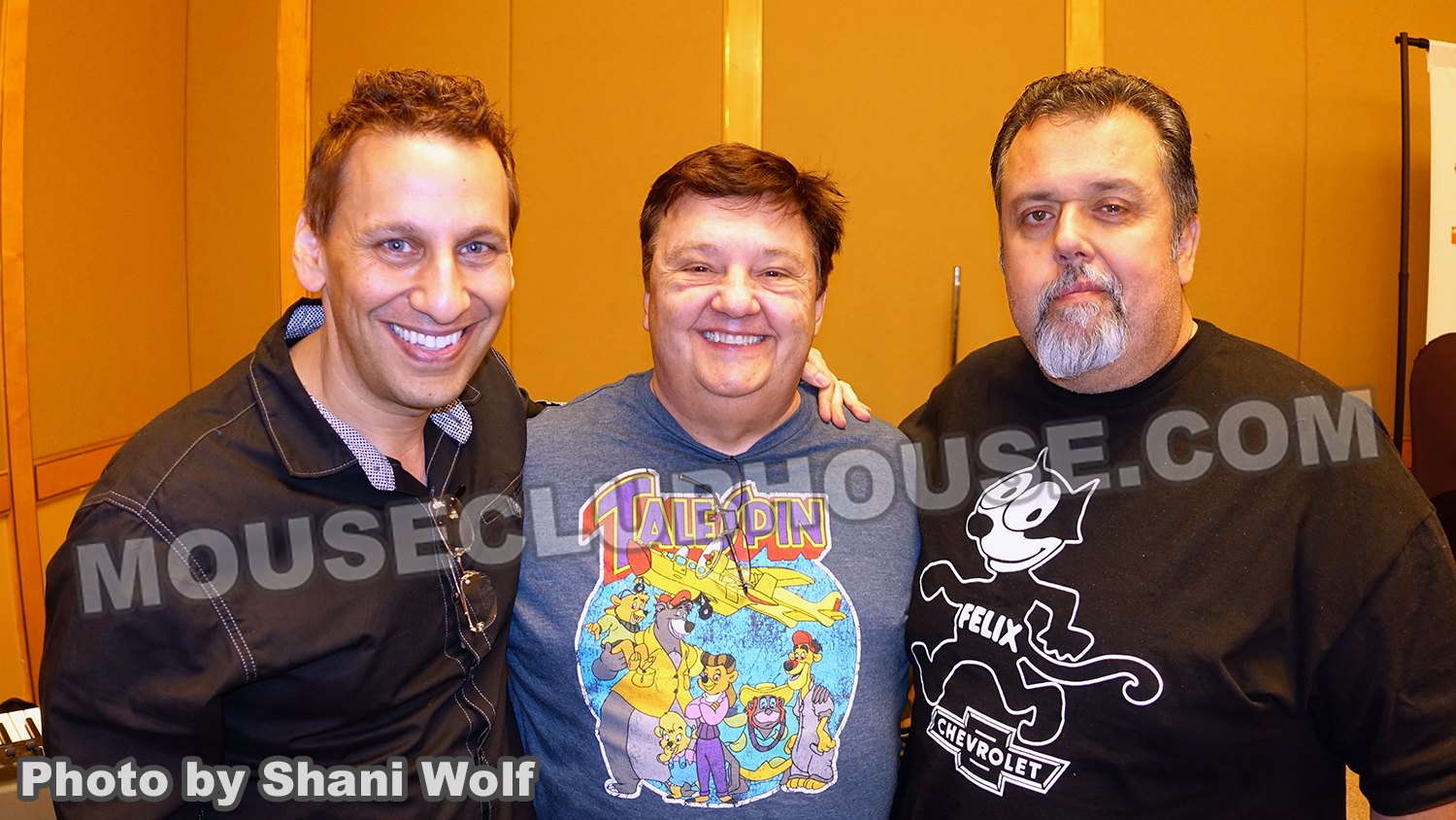 Here I am with Jymn Magon, the creator of TaleSpin and Len Smith, TaleSpin character designer