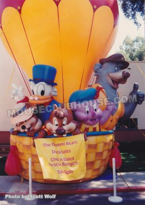 The Disney Afternoon inflatable welcomed employees to this celebration