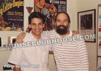 (left) Scott Wolf, assistant producer of TaleSpin and (right) Tim Walker, producer of TaleSpin