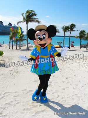 Minnie Mouse on Disney's Private Island, Castaway Cay