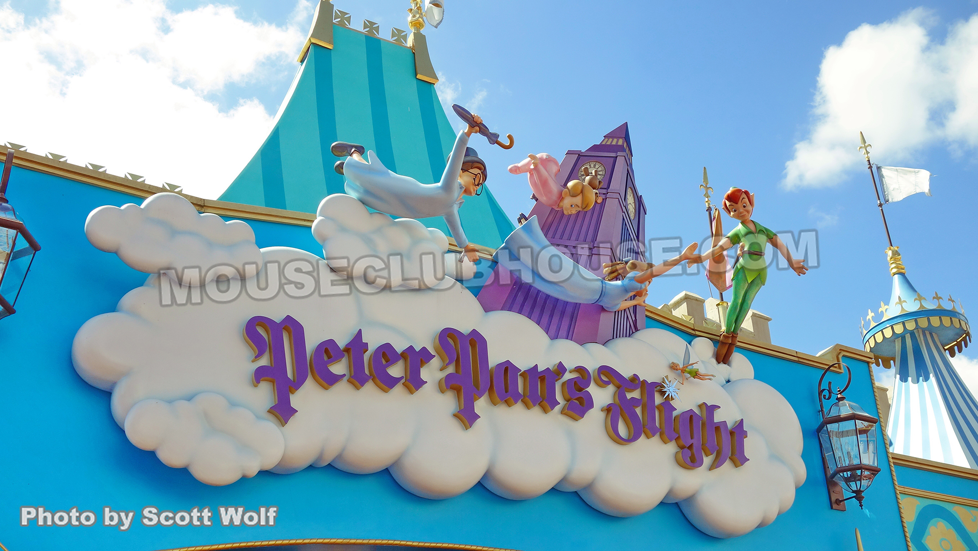 Peter Pan's Flight in the Magic Kingdom in Walt Disney World
