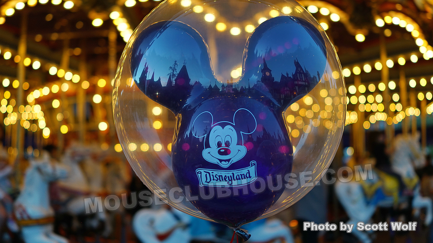 Disneyland balloon at Sleeping Beauty Castle - photo by Scott Wolf