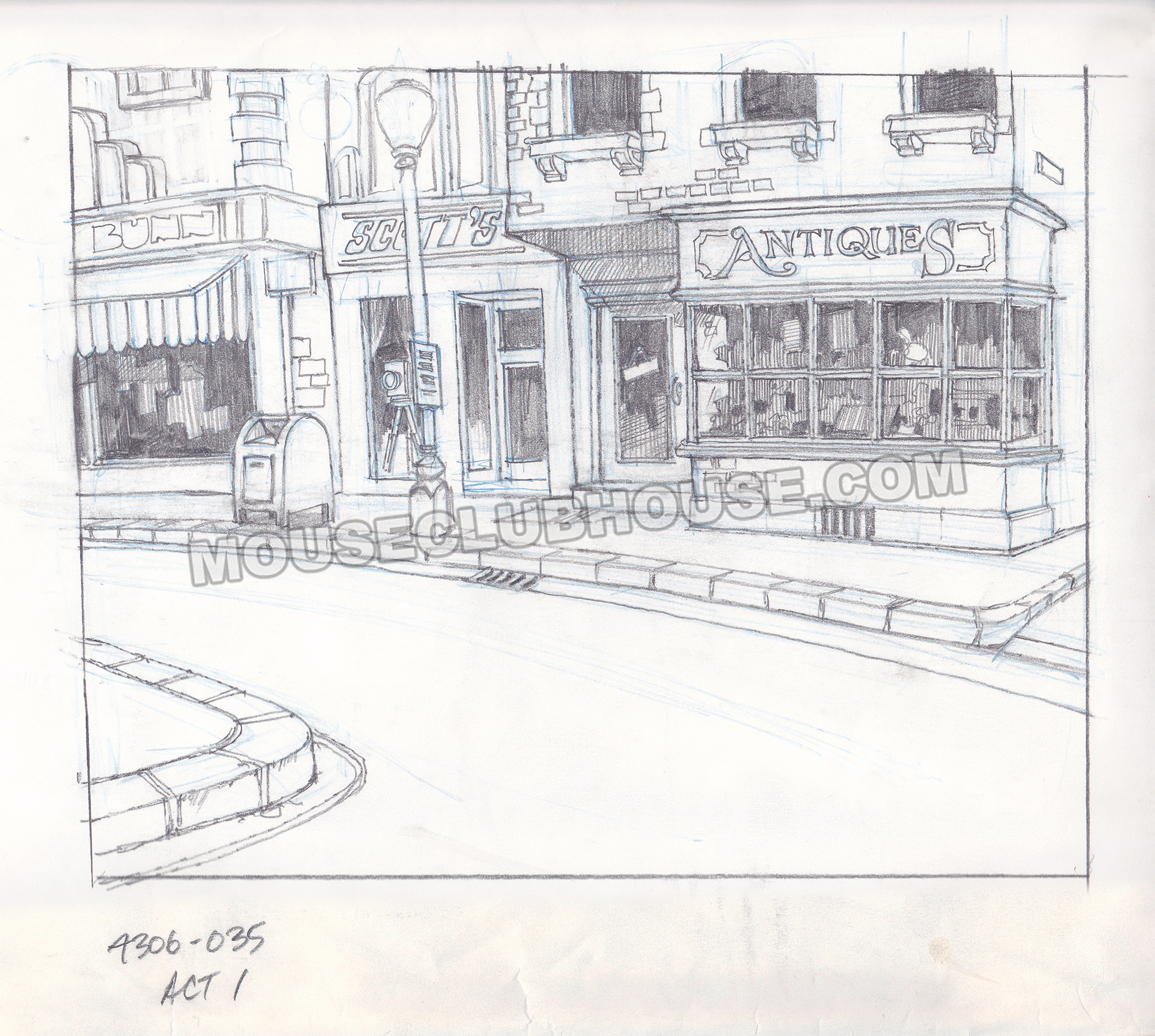 TaleSpin artist Derek Carter gave me my own camera shop in this TaleSpin layout key