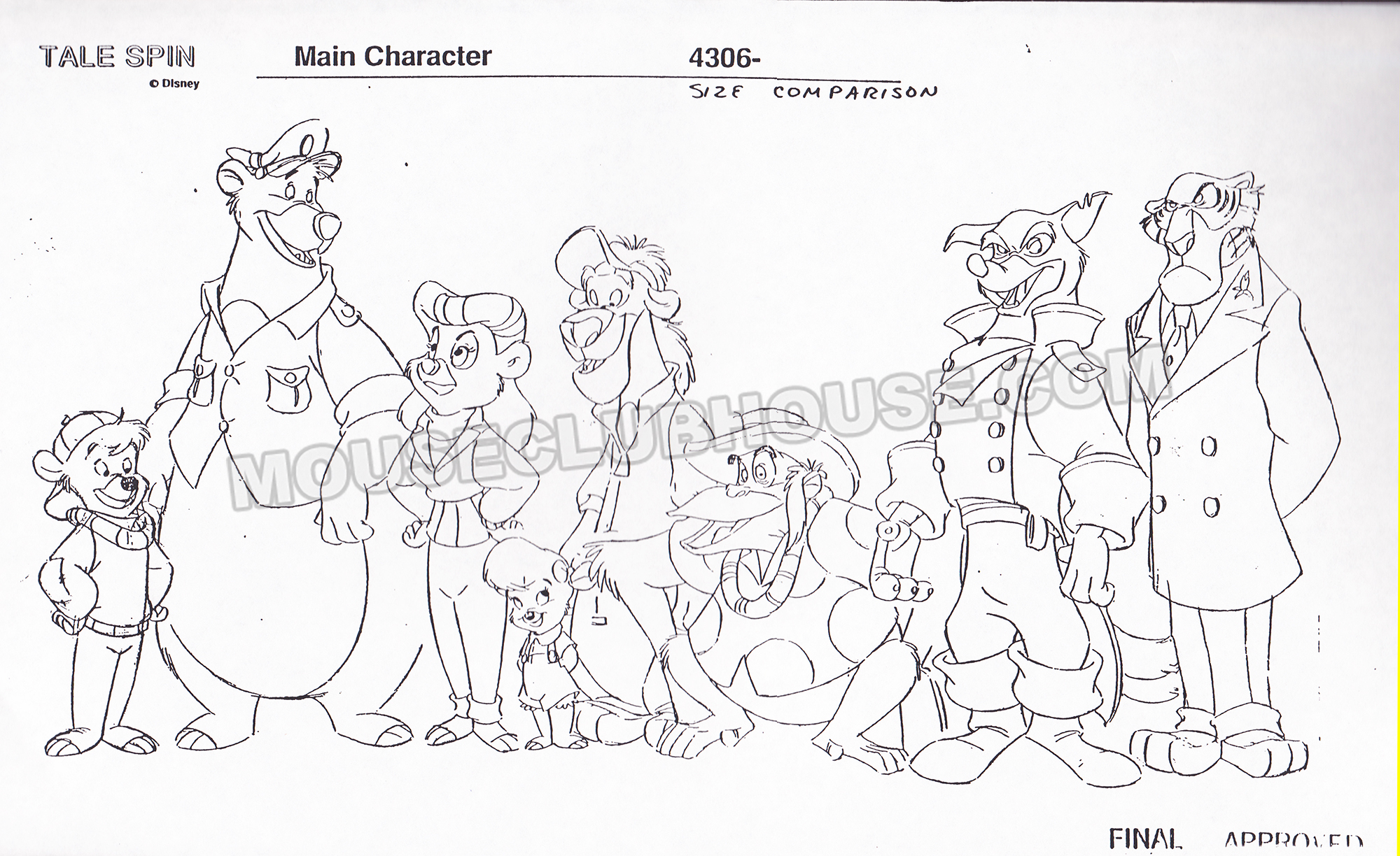 TaleSpin size comparison