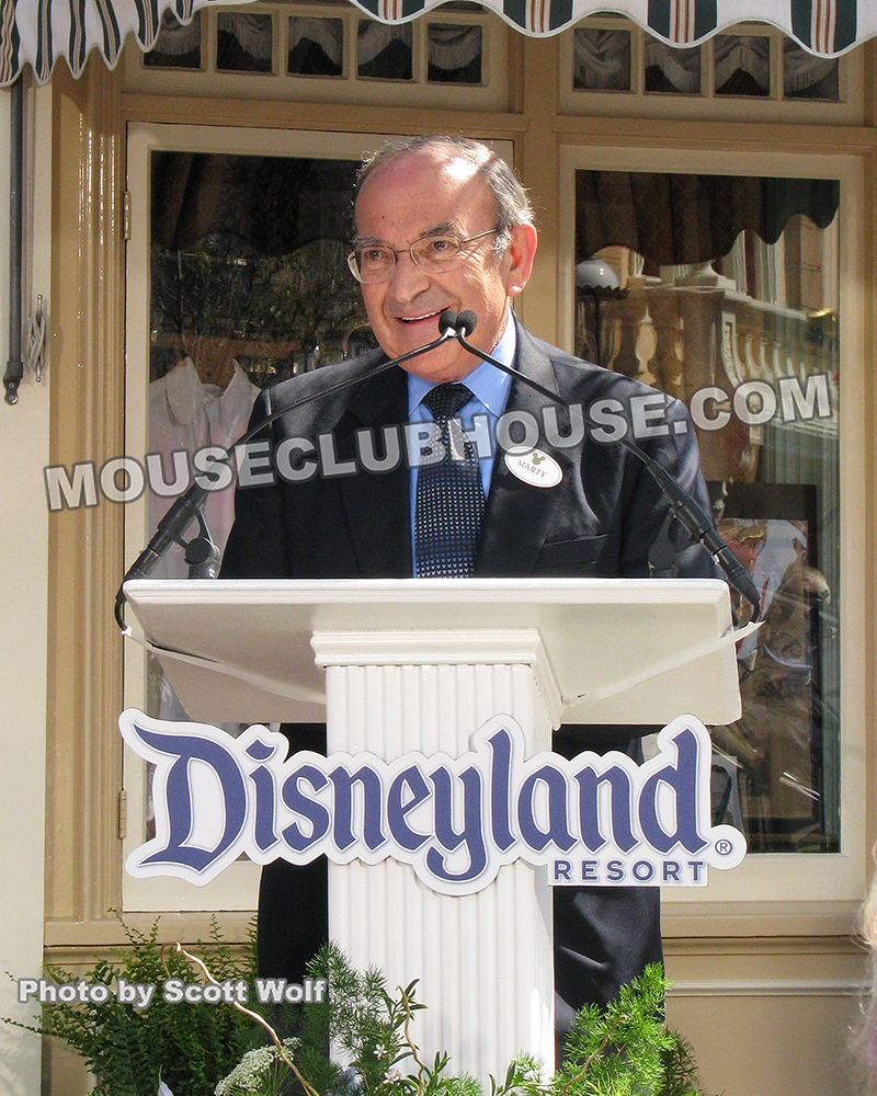 Here's a photo I took of Marty Sklar back in 2010