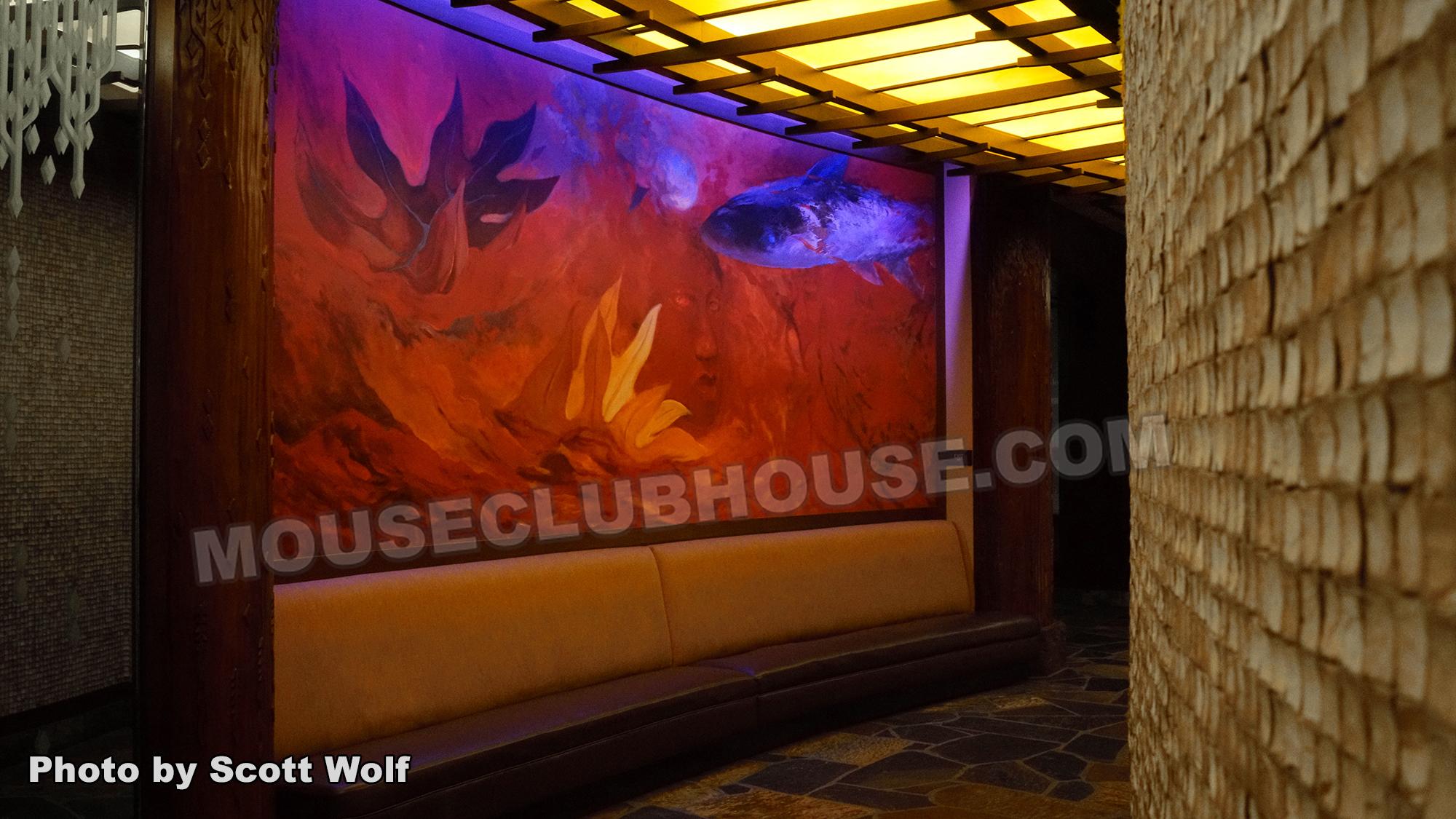 Pele mural at Aulani, a Disney Resort and Spa