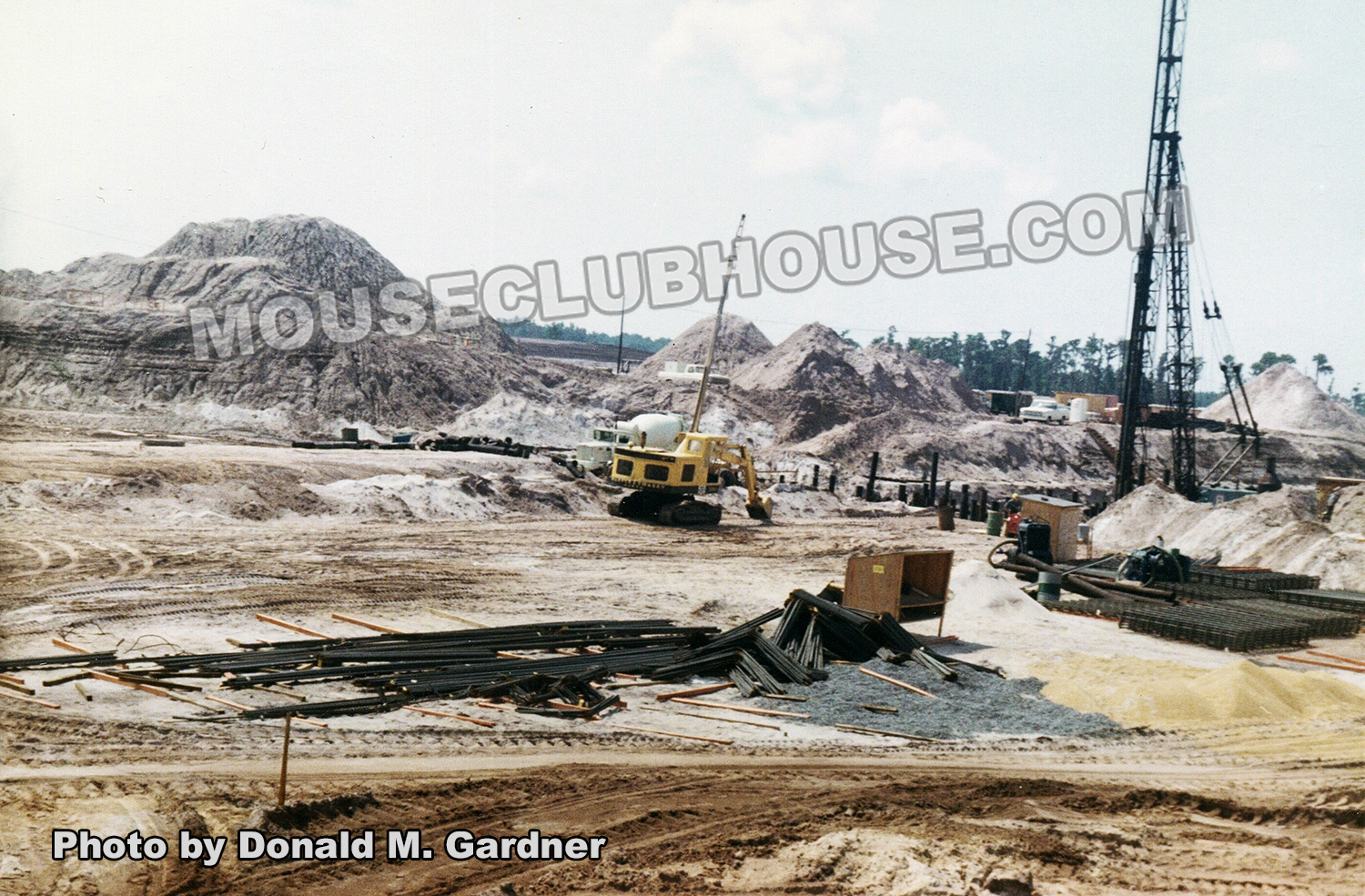 "Construction on the ""basement"" which Fantasyland sits atop"