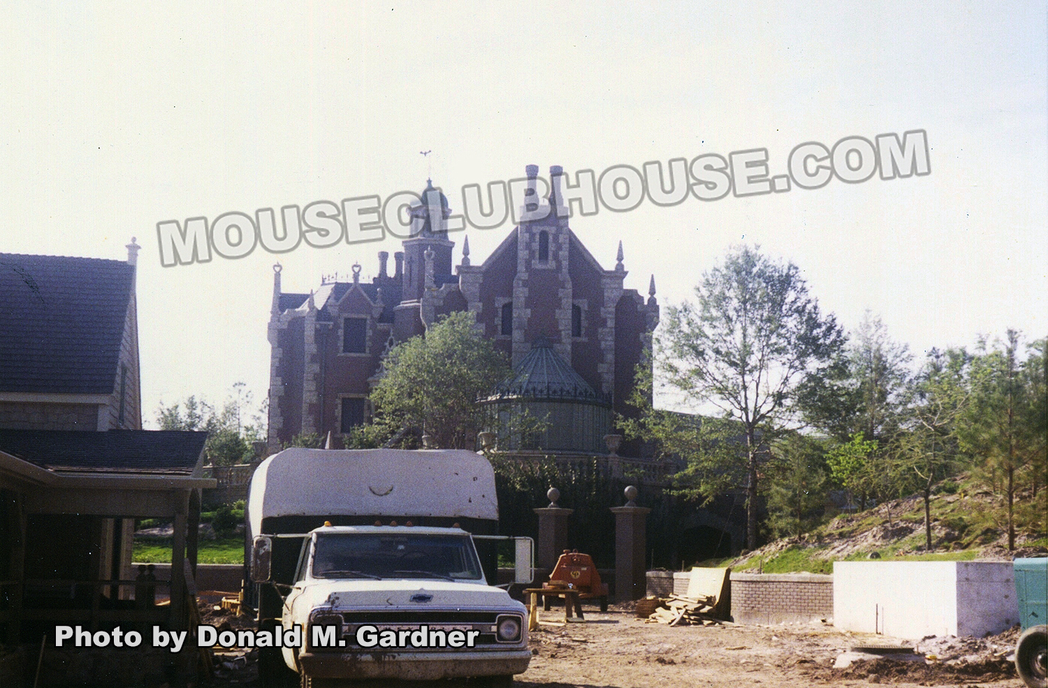 The Haunted Mansion under construction
