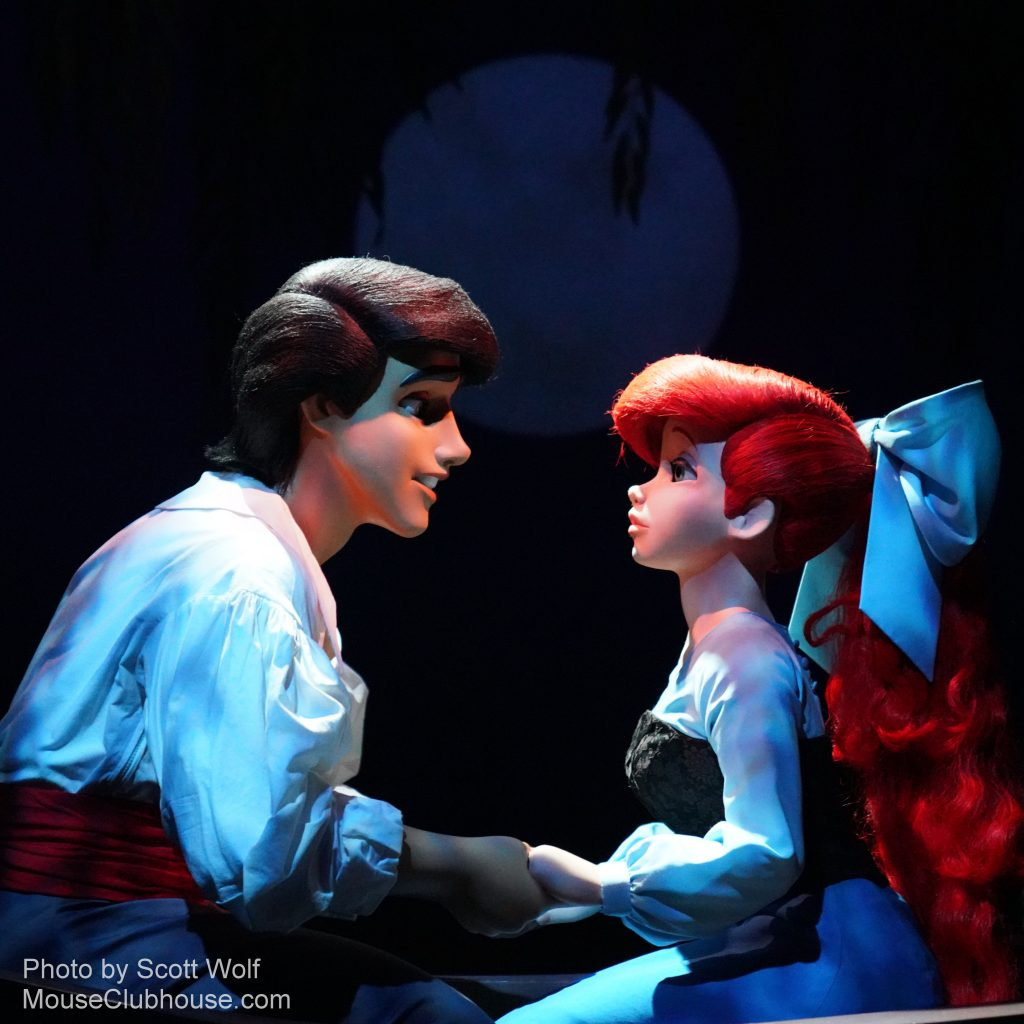 The Little Mermaid attraction in Disney California Adventure - Kiss the Girl
