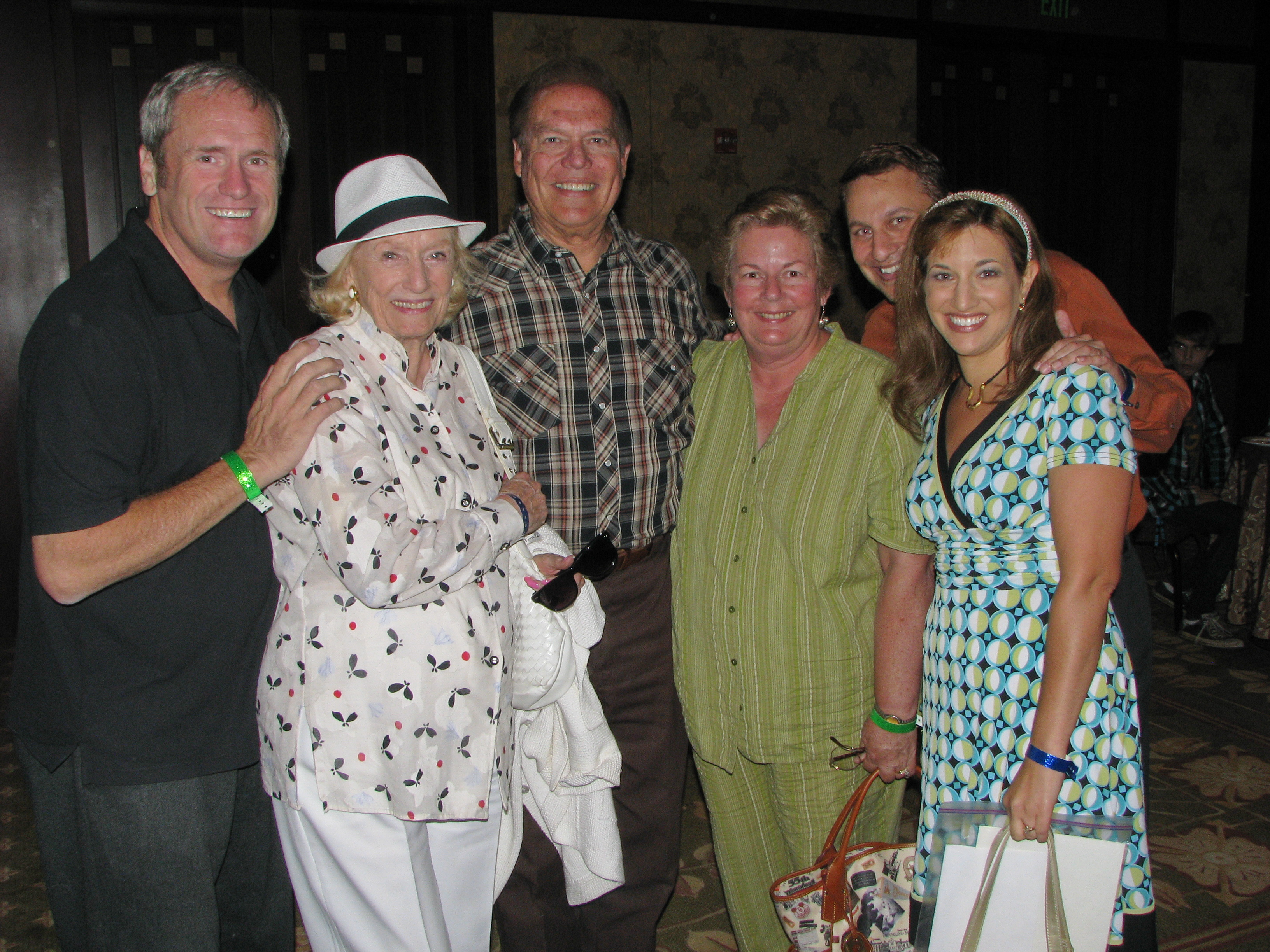 My dear friend James Gray, Miriam Nelson, original Mousketeer Bobby Burgess and his wife Christie, me and Shani