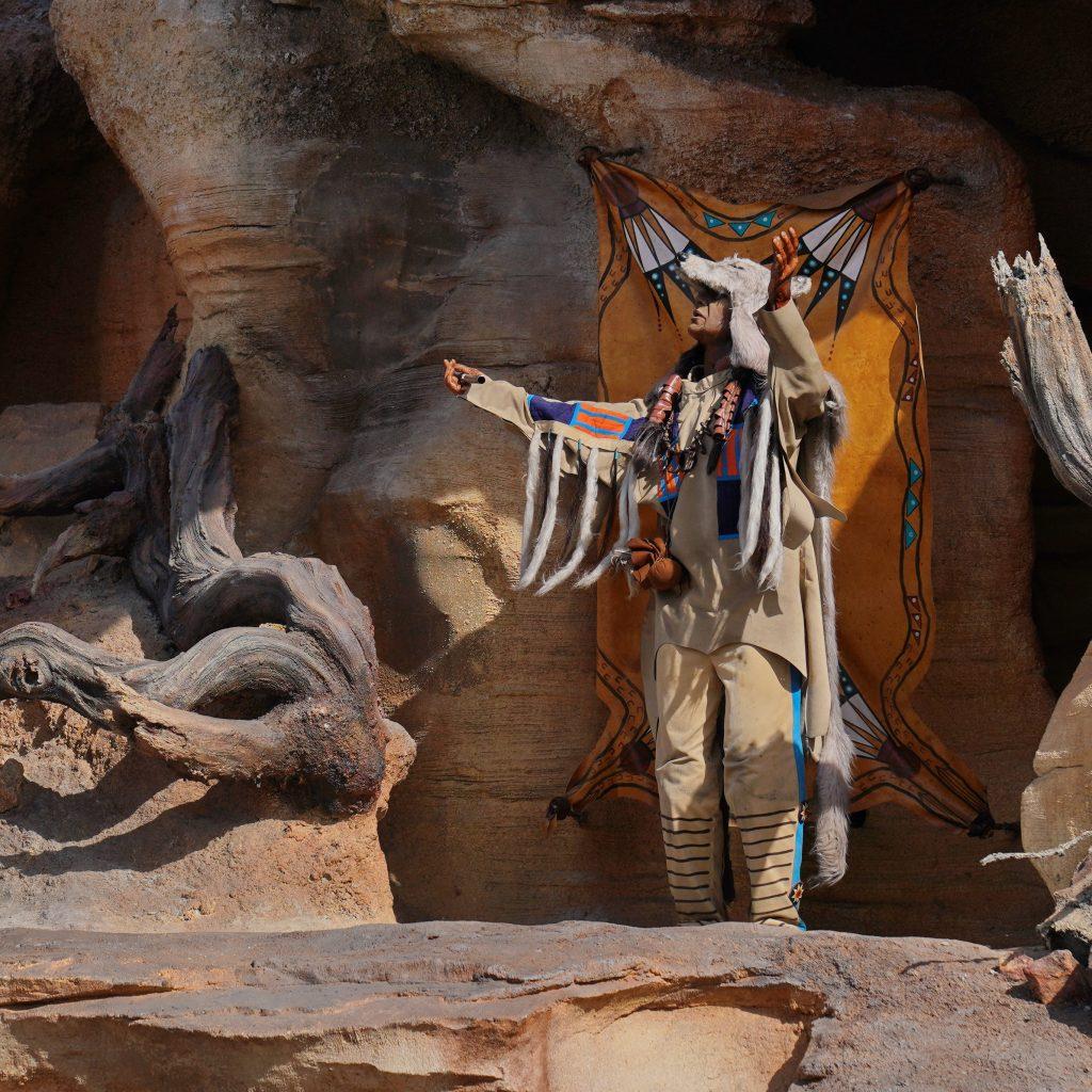 Native America chief in Disneyland