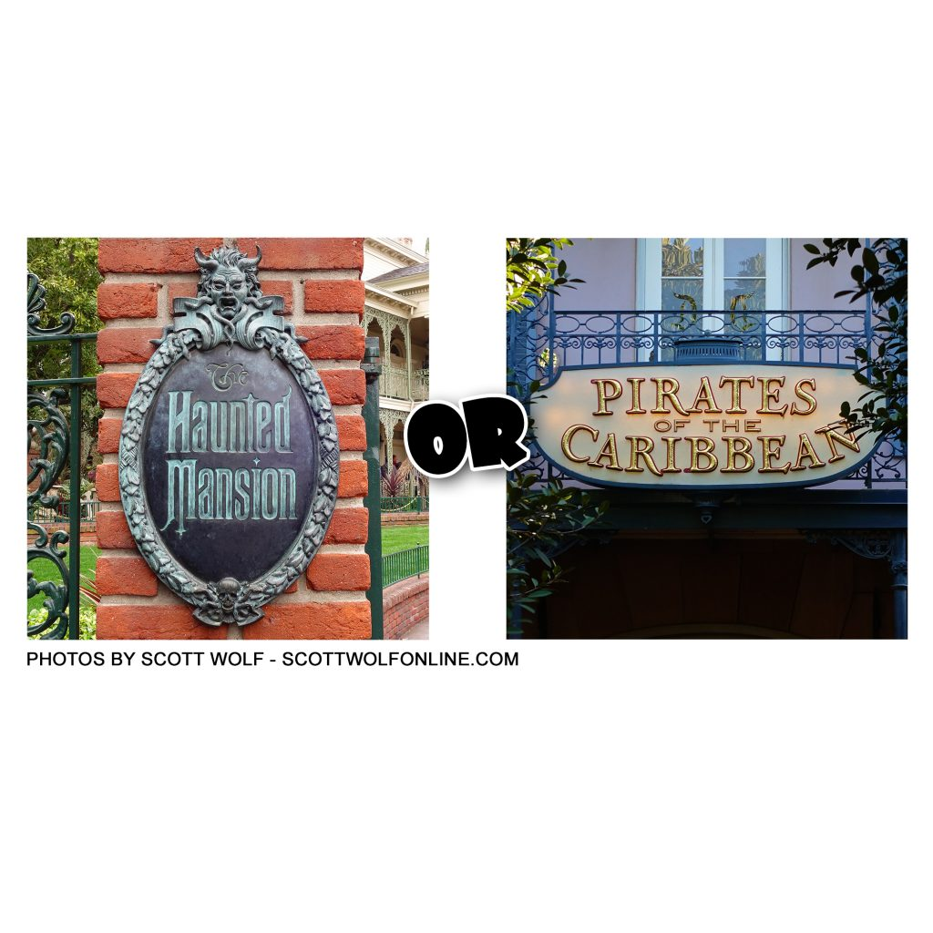 What's your favorite... Haunted Mansion or Pirates of the Caribbean